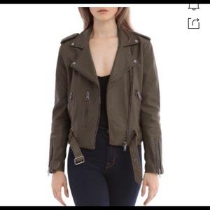 Bagatelle NYC leather biker jacket size M
